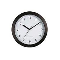 Hodiny DCF nástěnné hodiny, černé