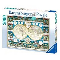 Ravensburger Historická mapa 2000 dílků