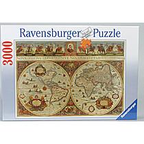 Historická mapa světa 1665
