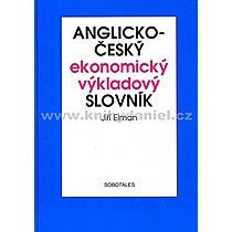 Jiří Elman Anglicko český ekonomický výkladový slovník