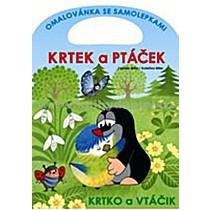 Krtek a ptáček omalovánka se samolepkami - Zdeněk Miler