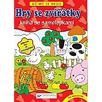 Hry se zvířátky Kniha se samolepkami