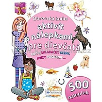 Obrovská kniha aktivít s nálepkami pre dievčatá