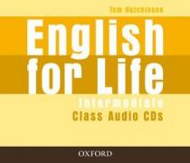 Tom Hutchinson English for Life Intermediate Class Audio CDs