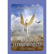 Diana Cooper Karty jednorožců 44 karet a knížečka