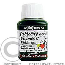 KABCO INC. MedPharma Jablečný ocet+vlák.+vit.C+chrom tbl.37