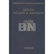 Sbírka nálezů a usnesení Ústavní soud České republiky+CD