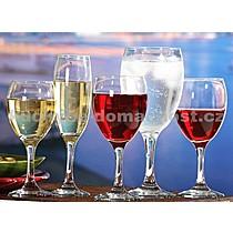 ART CRAFT EMPIRE Kalíšek víno 24,5cl - v balení po 6 sklenkách