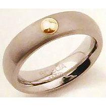 Mija Titanový prsten se zlacenou kuličkou