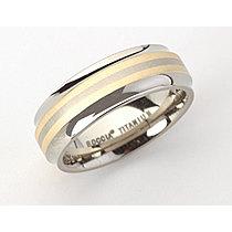 Mija Prsten Titanium Gold 585 2 line