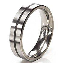 Mija Titanový prsten s černou rýhou