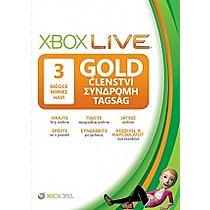 Xbox 360 Live 3 měsíce Gold Card CS/EL/HU