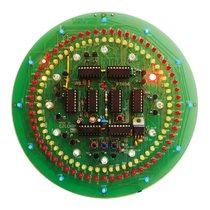 PT036 CMOS kruhové hodiny (stavebnice TIPA)
