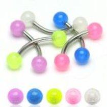 Piercing obočovka se svítícími kuličkami HWCG