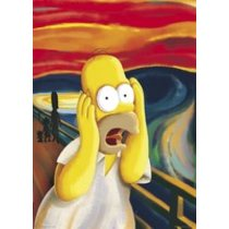 POSTERS THE SIMPSONS scream plakáty