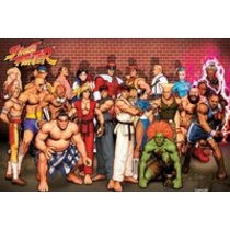 POSTERS STREET FIGHTER characters plakát 91 x 61 cm