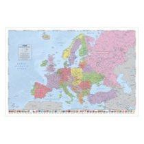 POSTERS MAPA EVROPY politická plakát 91 x 61 cm