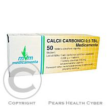 Medicamenta CALCII CARBONICI 0,5 TBL. 50X0.5gm