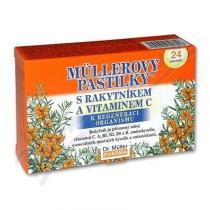 Dr. Müller Müllerovy pastilky - s rakytníkem a vitamínem C (24ks)