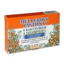 Dr. Müller Müllerovy pastilky - s rakytníkem a vitamínem C (12ks)