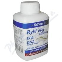 K-MAX Rybí olej 1000mg+EPA+DHA tob.107