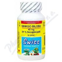 Swiss Ginkgo Biloba 40mg (60 kapslí)