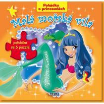 Malá mořská víla - Pohádky o princeznách - 6 puzzle