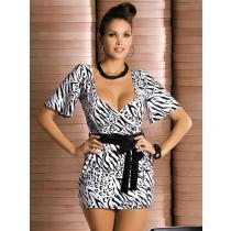 Obsessive Zebra robe