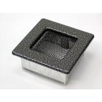 Amstal - Krbová mřížka 11x11cm černostříbrná
