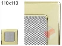 Amstal - Krbová mřížka 11x11cm pozlacená