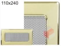 Kratki - Krbová mřížka 11x24cm pozlacená