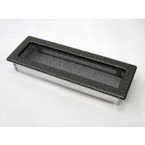 Amstal - Krbová mřížka 11x32cm černostříbrná
