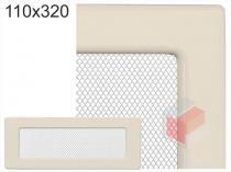Amstal - Krbová mřížka 11x32cm krémová