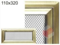 Amstal - Krbová mřížka 11x32cm Oskar zlato