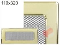 Amstal - Krbová mřížka 11x32cm pozlacená