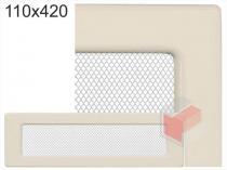 Amstal - Krbová mřížka 11x42cm krémová