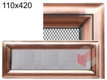 Amstal - Krbová mřížka 11x42cm Oskar měď