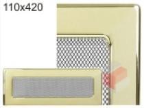 Kratki - Krbová mřížka 11x42cm pozlacená