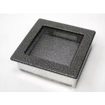Amstal - Krbová mřížka 17x17cm černostříbrná