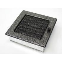 Amstal - Krbová mřížka 17x17cm černostříbrná s žaluzií