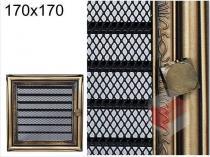 Amstal - Krbová mřížka 17x17cm rustikální s žaluzií