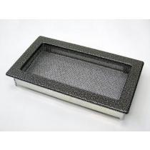 Amstal - Krbová mřížka 17x30cm černostříbrná