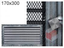 Amstal - Krbová mřížka 17x30cm Diana s žaluzií