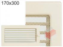 Amstal - Krbová mřížka 17x30cm krémová s žaluzií