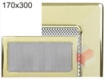 Kratki - Krbová mřížka 17x30cm pozlacená