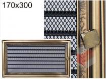 Amstal - Krbová mřížka 17x30cm rustikální s žaluzií