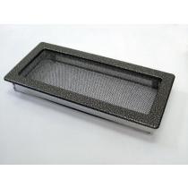 Amstal - Krbová mřížka 17x37cm černostříbrná