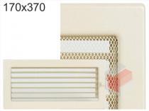Amstal - Krbová mřížka 17x37cm krémová s žaluzií