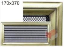 Amstal - Krbová mřížka 17x37cm Oskar zlato s žaluzií