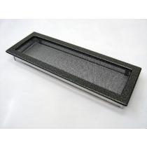 Amstal - Krbová mřížka 17x49cm černostříbrná